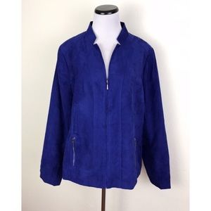 Studio Works Lightweight Faux Suede Jacket